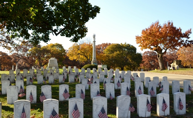 Civil War Section of Rosehill Cemetery