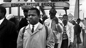 John Lewis, SNCC President, on the march in 1965