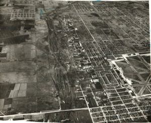 Aerial photograph of Chrysler Village, ca. 1950, courtesy of Clear-Ridge Historical Society