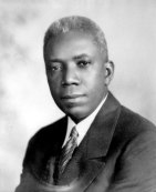 """Floyd B. Brown, founder of the Fargo Agricultural School in Monroe County, which provided elementary school and secondary vocational education for African-American students; 1942."" Courtesy of the Arkansas History Commission."