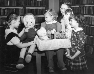 North Town Library -Children with rag dolls