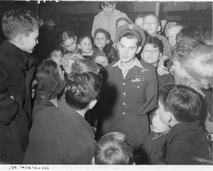 2502 W Devon Avenue, North Town Library -Children with Army Lt. Godlewski.