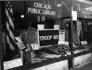 The library was an important venue for children's groups, including the Boy Scouts of America.
