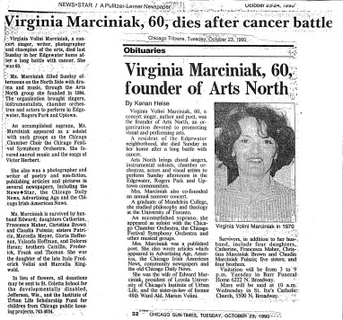 Marciniak obituary