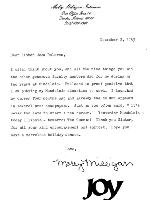 Letter from Molly Milligan